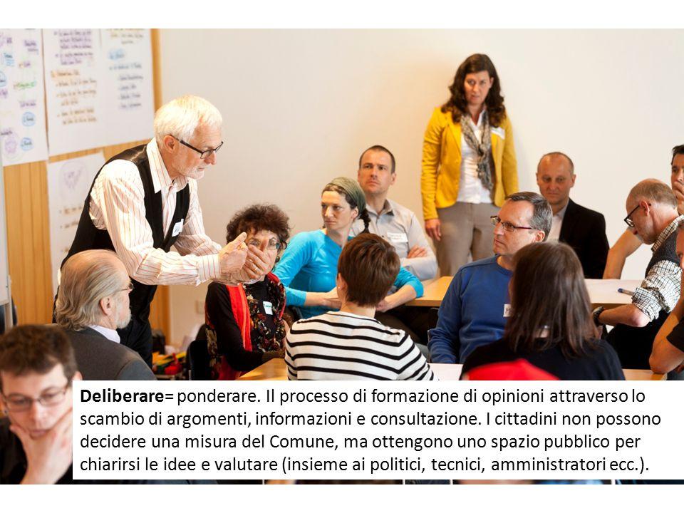 Deliberare= ponderare