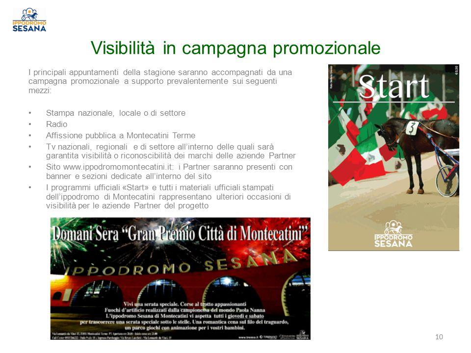Visibilità in campagna promozionale