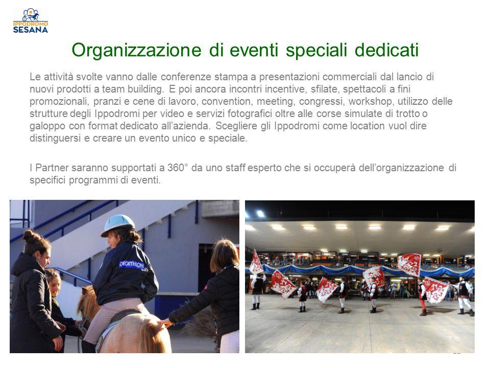 Organizzazione di eventi speciali dedicati