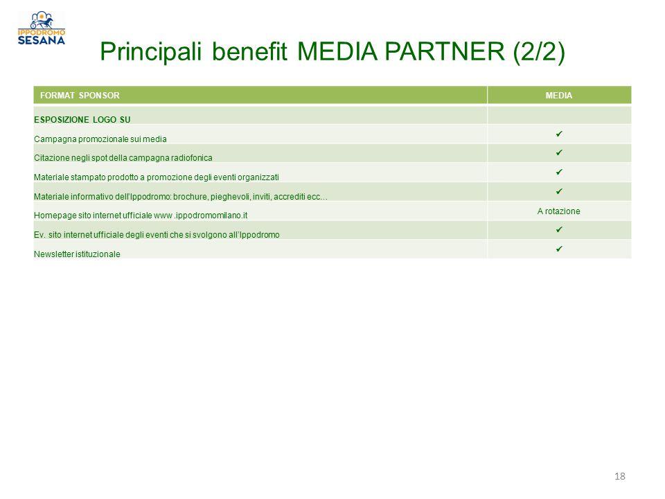 Principali benefit MEDIA PARTNER (2/2)