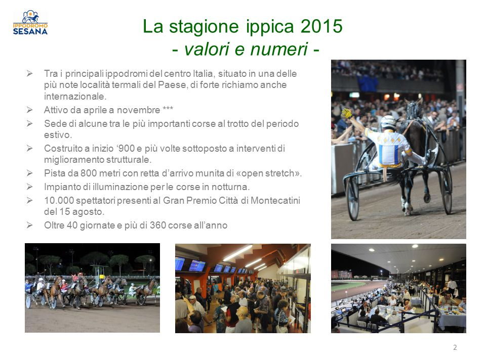 La stagione ippica 2015 - valori e numeri -