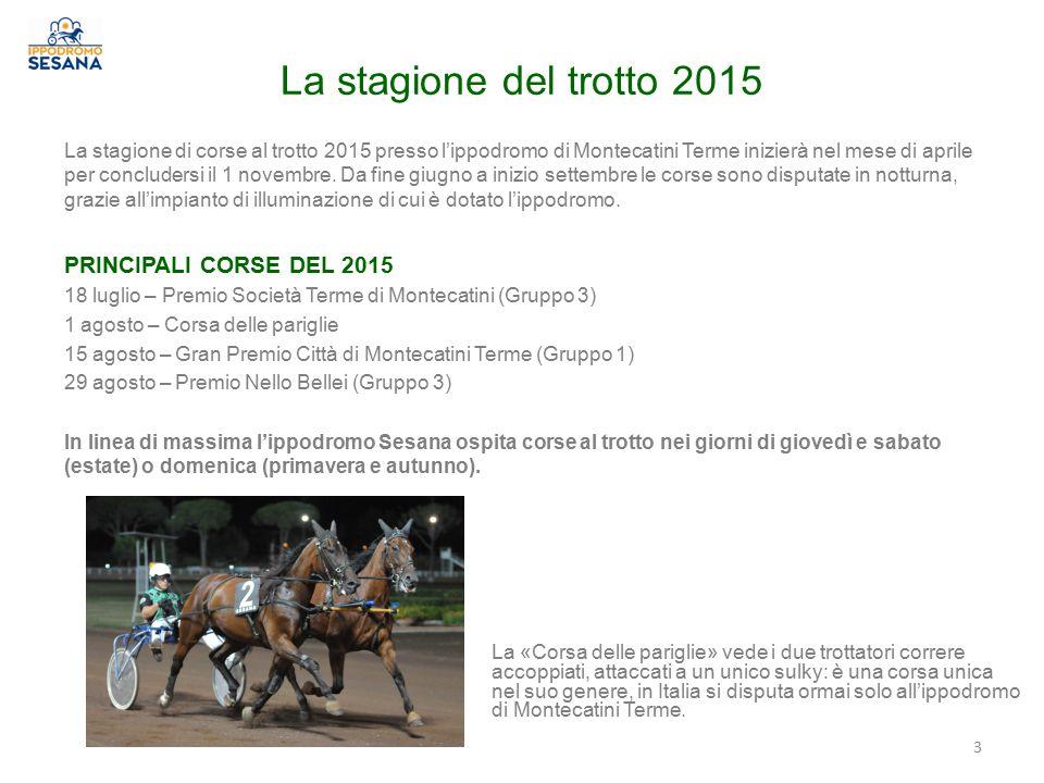 La stagione del trotto 2015 PRINCIPALI CORSE DEL 2015