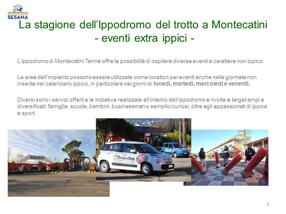 La stagione dell'Ippodromo del trotto a Montecatini - eventi extra ippici -