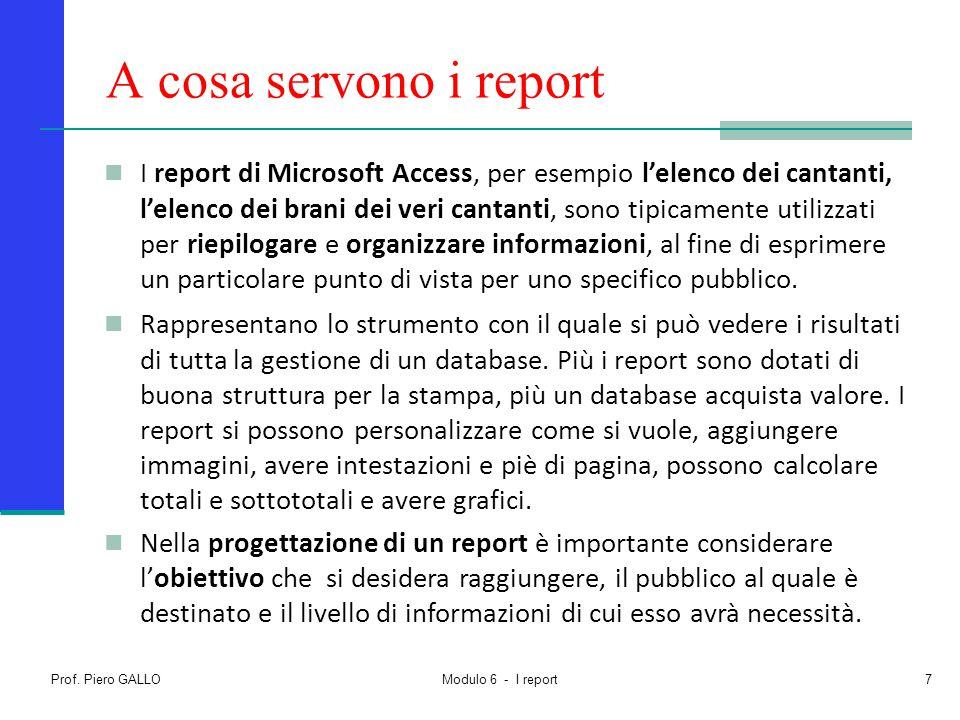 A cosa servono i report
