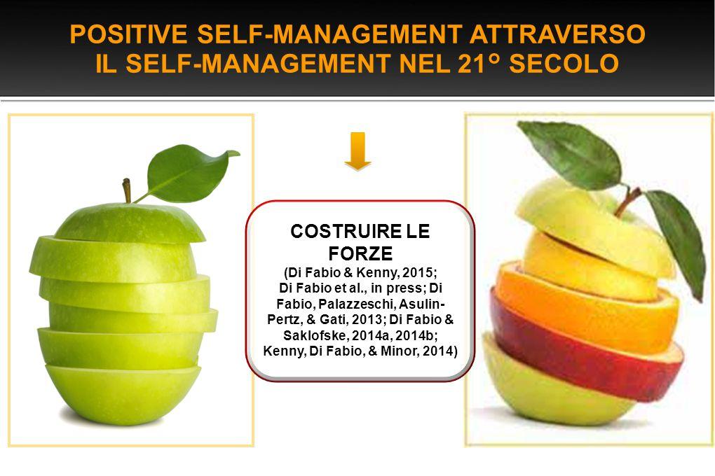 POSITIVE SELF-MANAGEMENT ATTRAVERSO IL SELF-MANAGEMENT NEL 21° SECOLO
