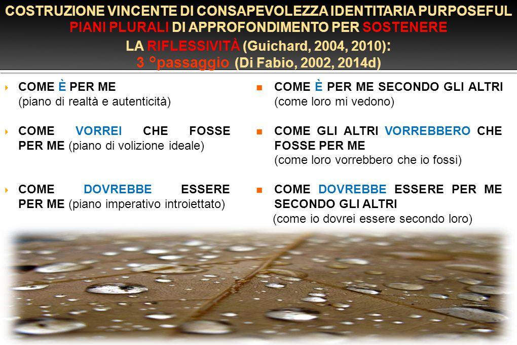 3 °passaggio (Di Fabio, 2002, 2014d)