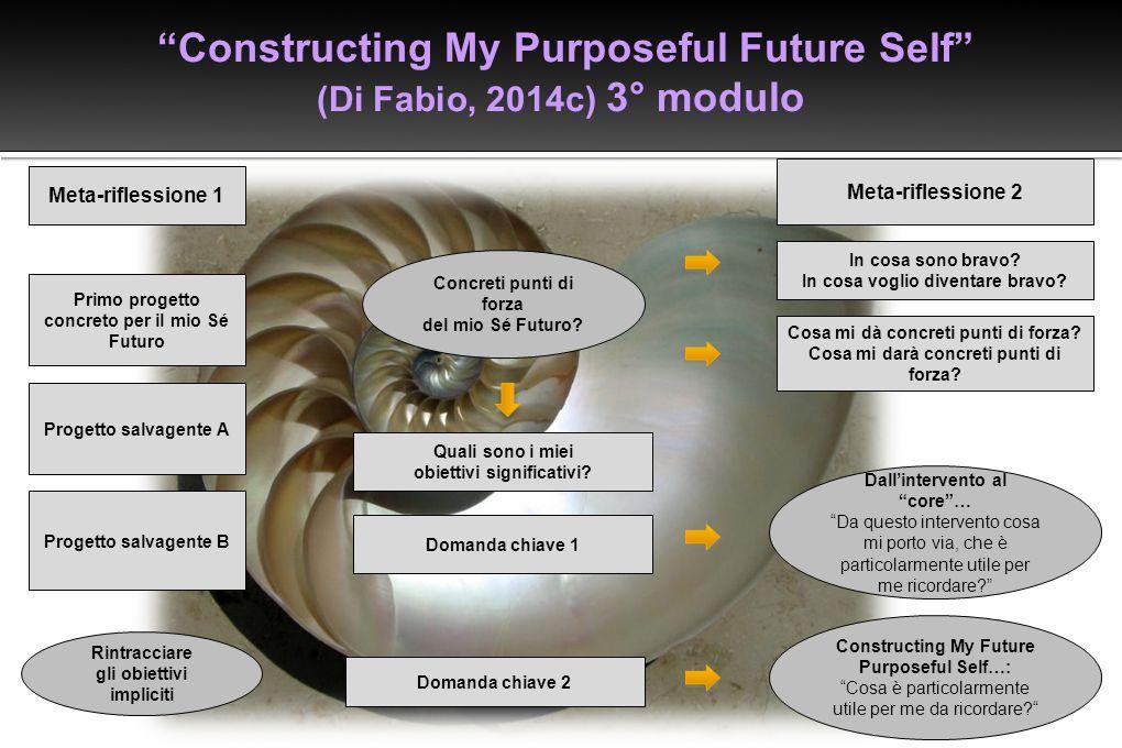 Constructing My Purposeful Future Self (Di Fabio, 2014c) 3° modulo