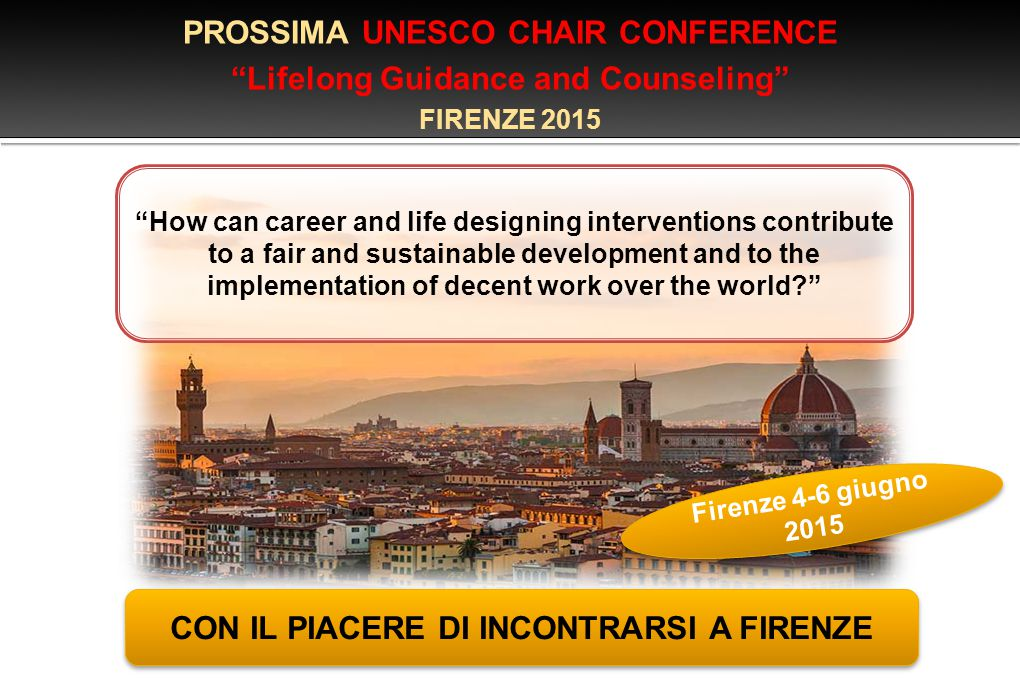 PROSSIMA UNESCO CHAIR CONFERENCE Lifelong Guidance and Counseling
