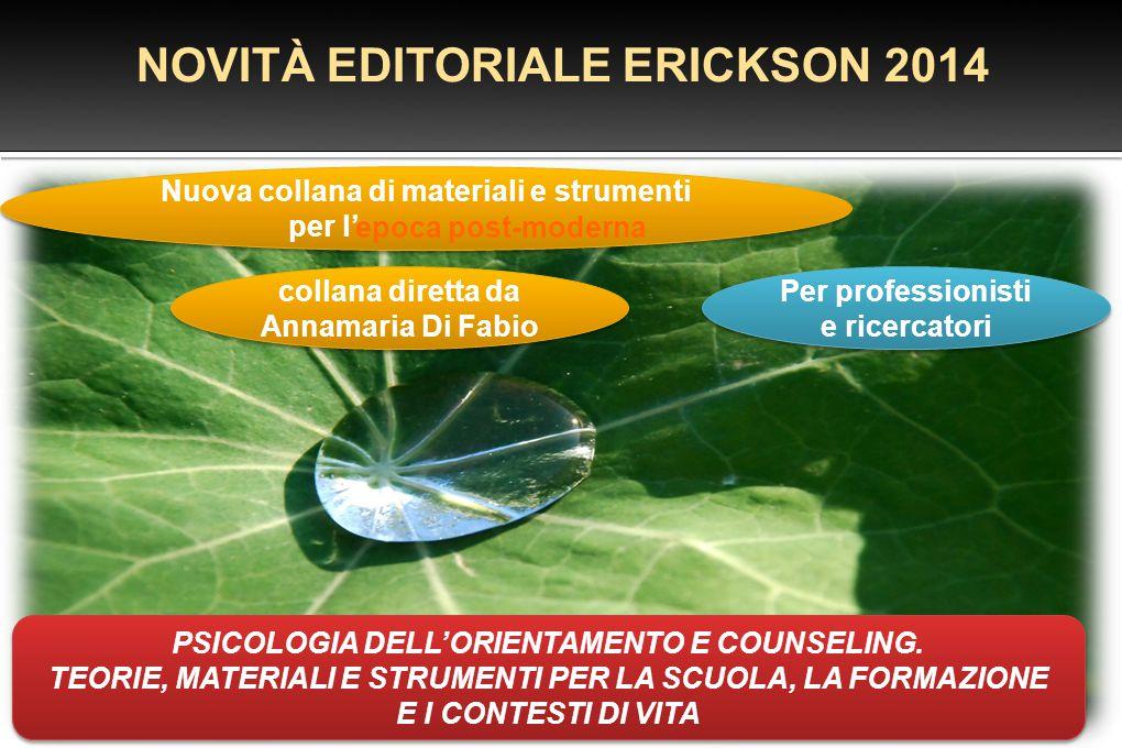 NOVITÀ EDITORIALE ERICKSON 2014