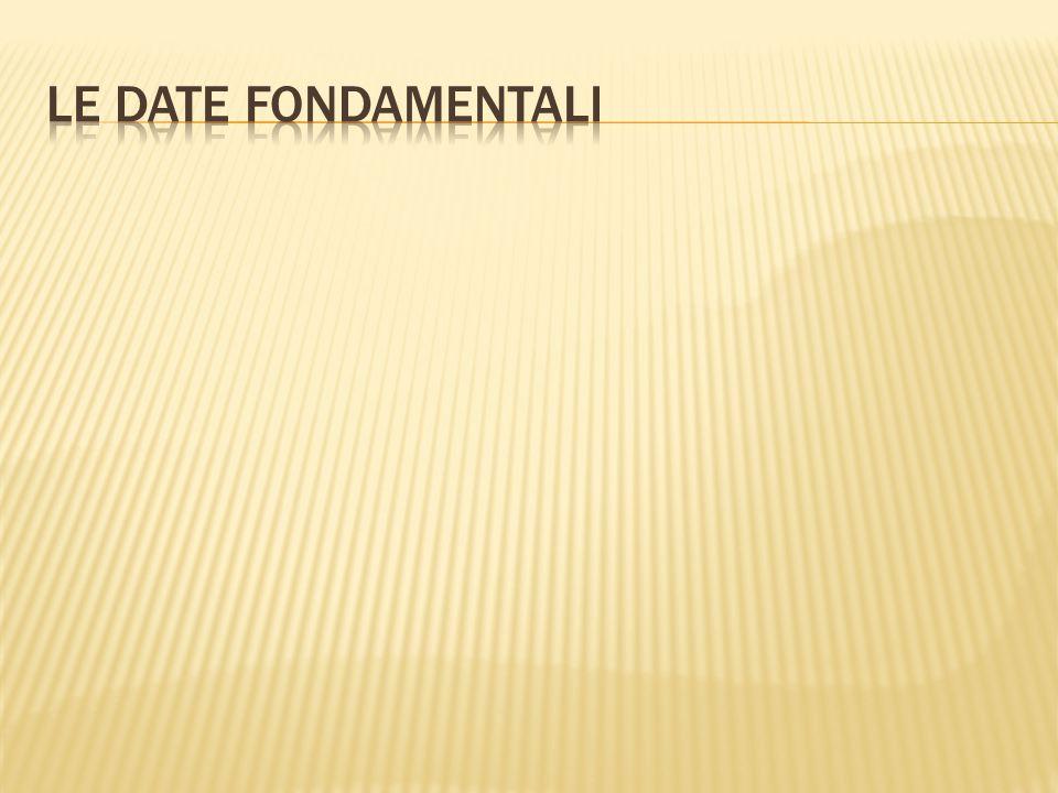 Le date fondamentali