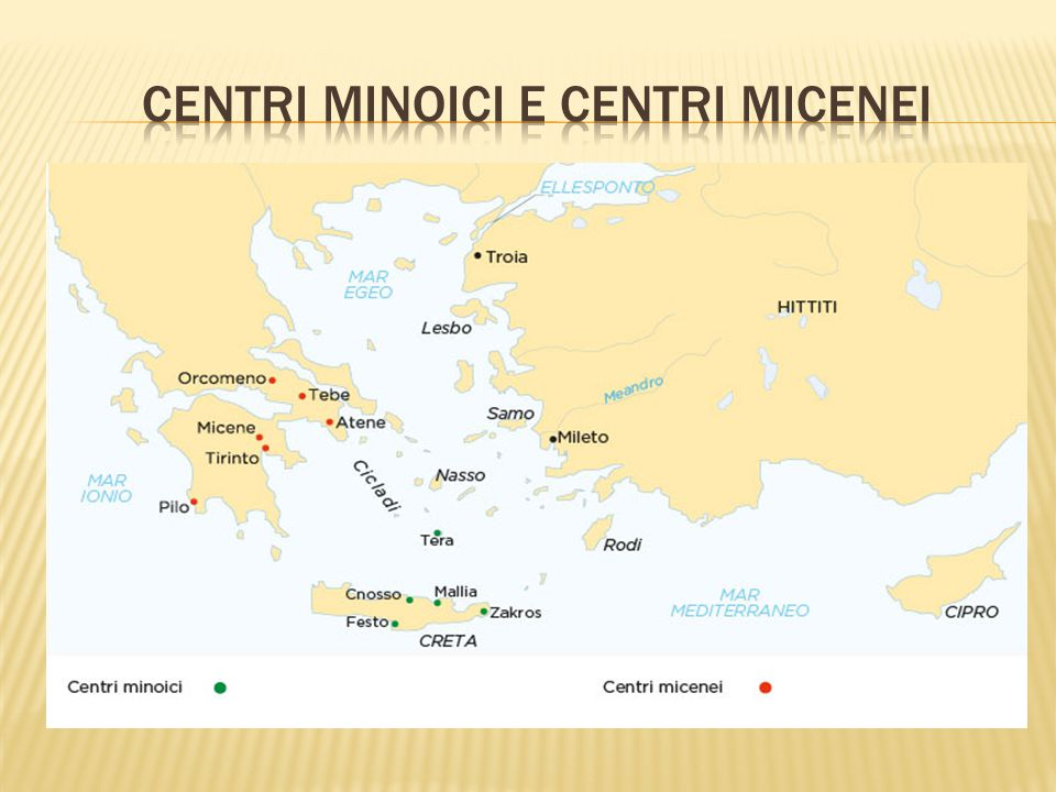 Centri minoici e centri micenei