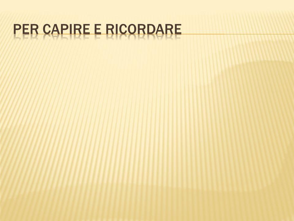PER CAPIRE E RICORDARE
