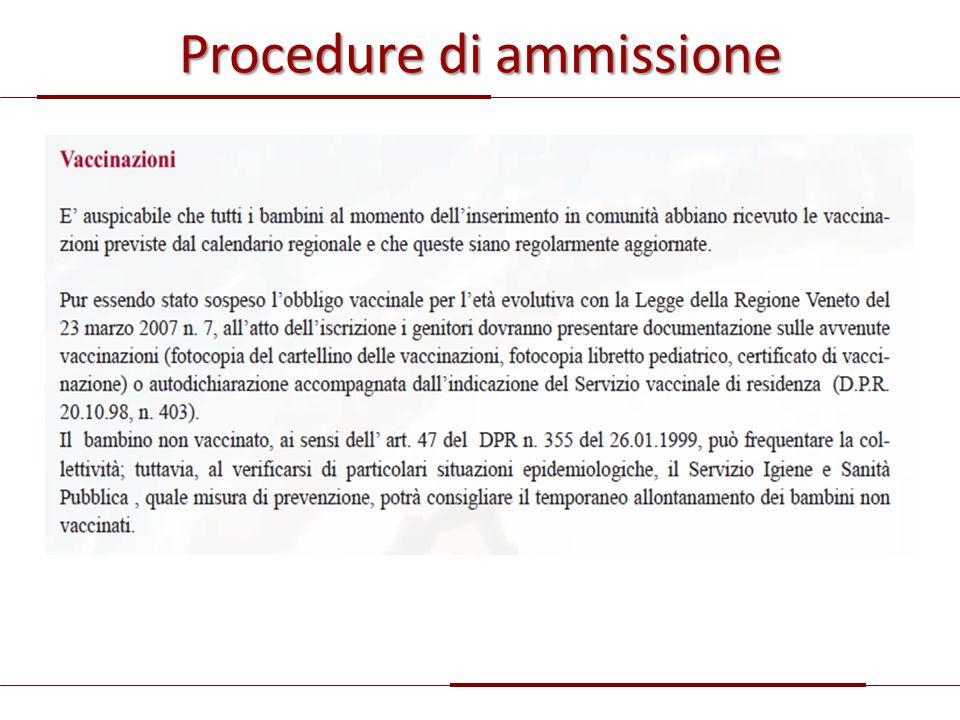 Procedure di ammissione