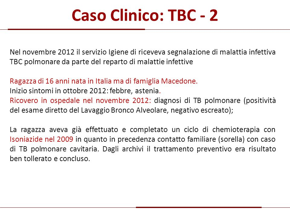 Caso Clinico: TBC - 2