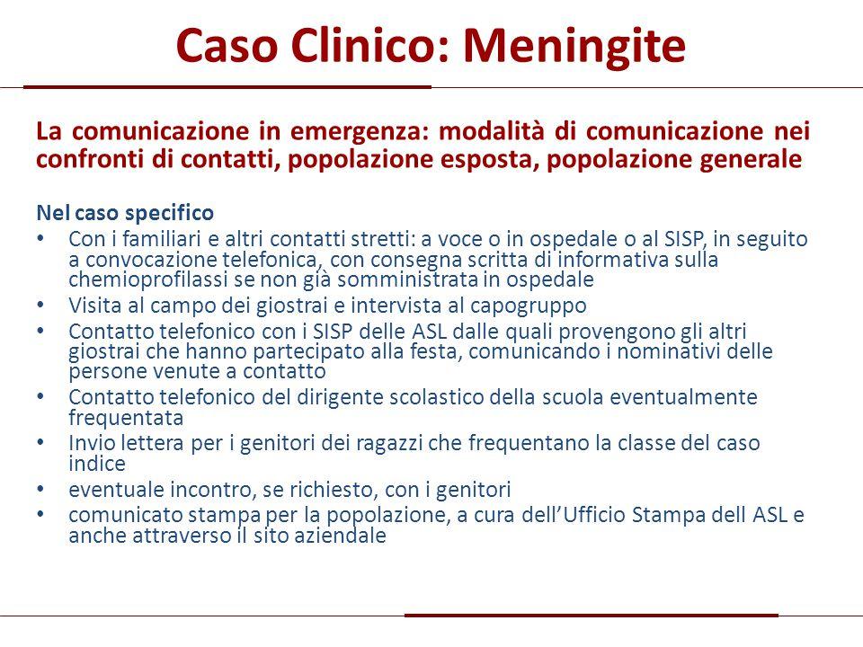 Caso Clinico: Meningite