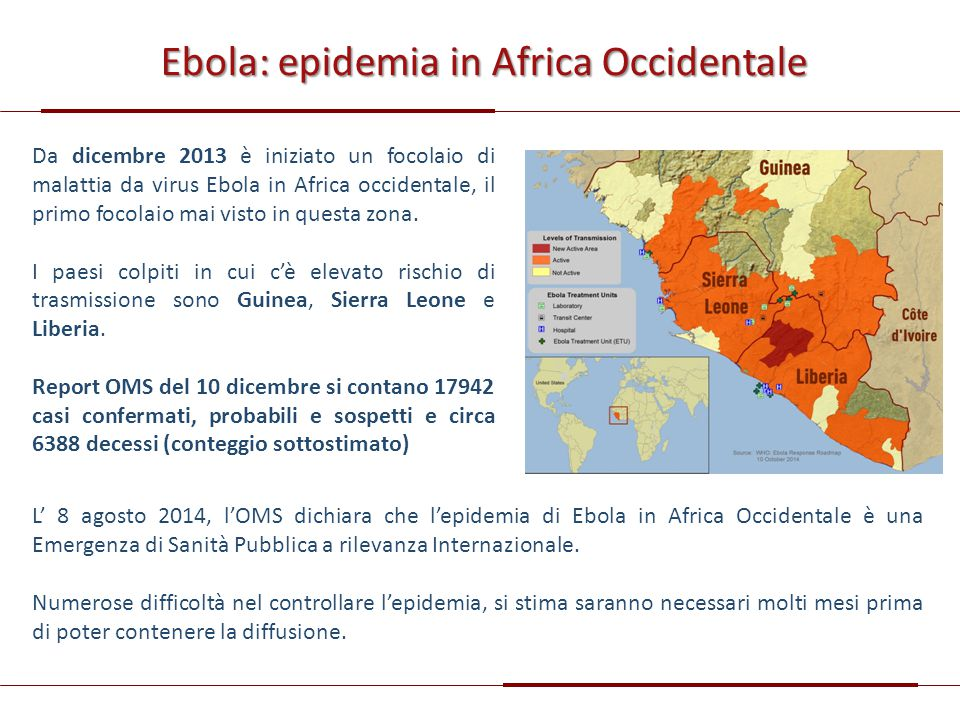 Ebola: epidemia in Africa Occidentale