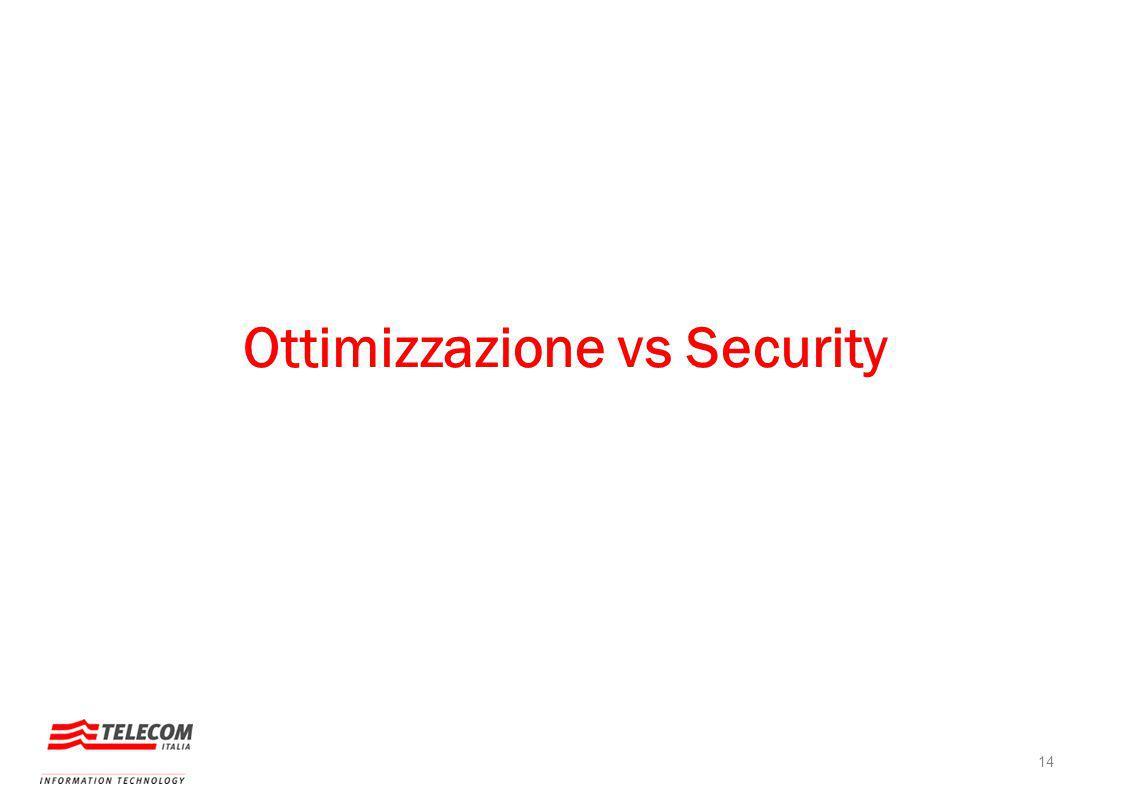 Ottimizzazione vs Security