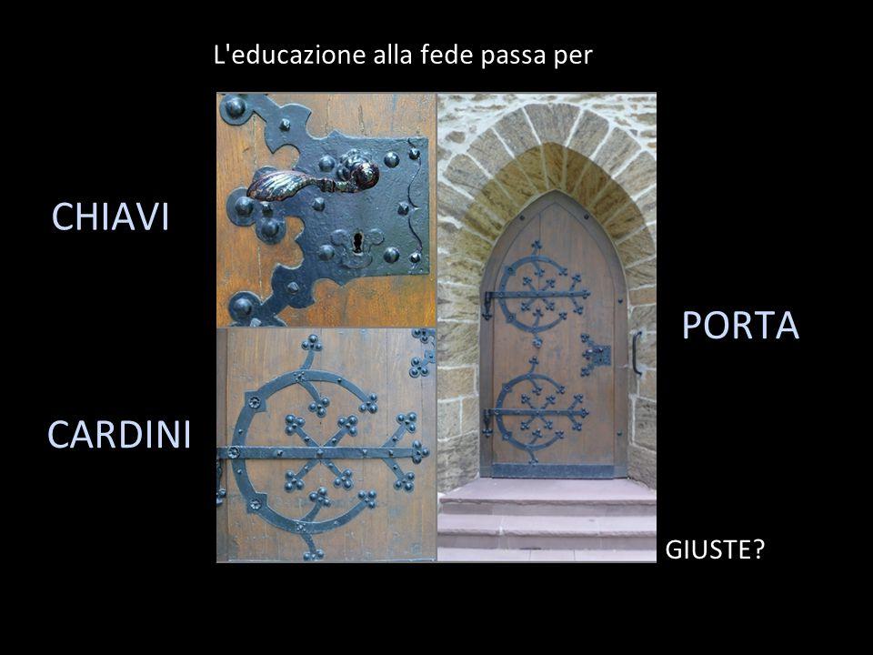 L educazione alla fede passa per