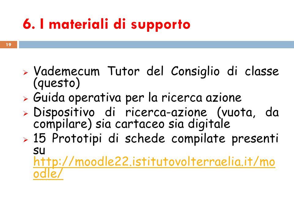 6. I materiali di supporto