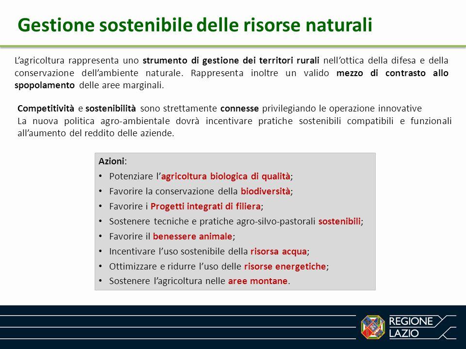 Gestione sostenibile delle risorse naturali