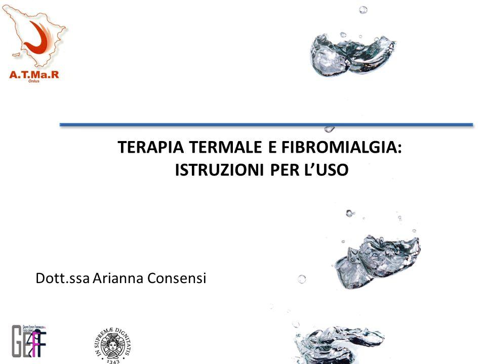 TERAPIA TERMALE E FIBROMIALGIA: