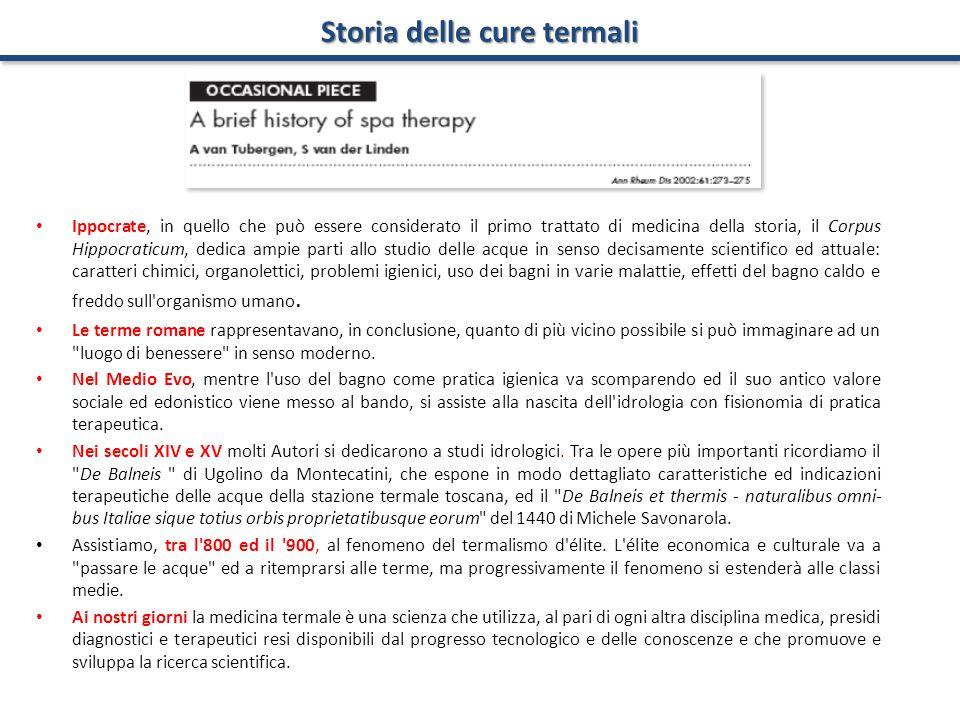 Storia delle cure termali