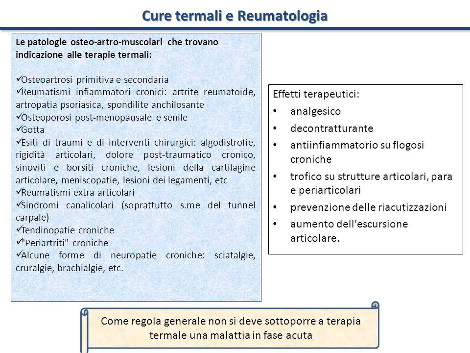 Cure termali e Reumatologia