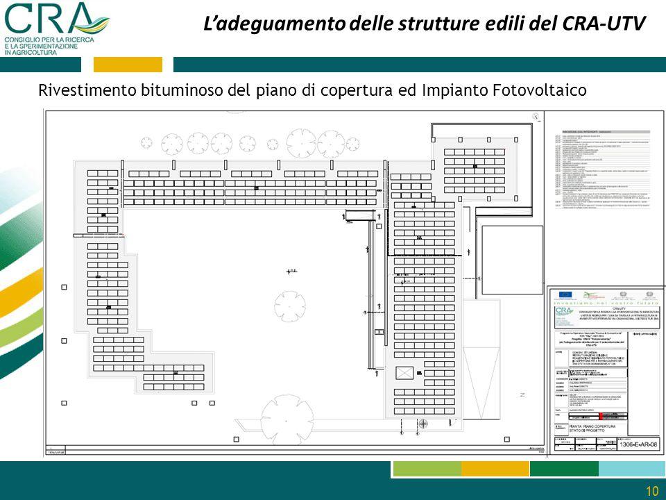 L'adeguamento delle strutture edili del CRA-UTV