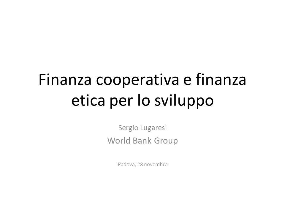 Finanza cooperativa e finanza etica per lo sviluppo