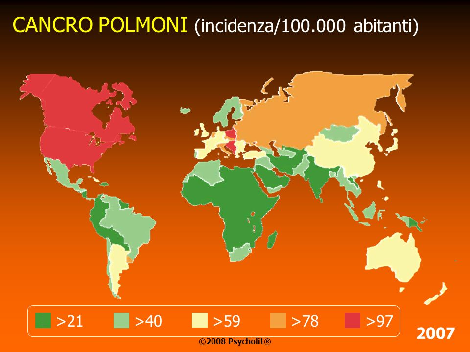 CANCRO POLMONI (incidenza/100.000 abitanti)