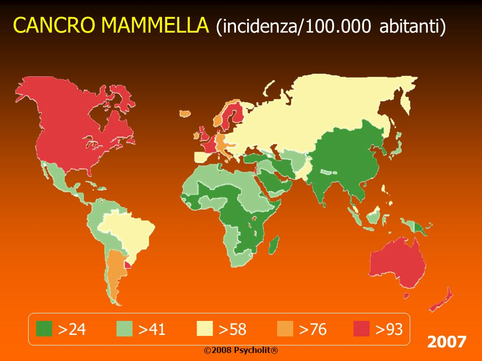 CANCRO MAMMELLA (incidenza/100.000 abitanti)