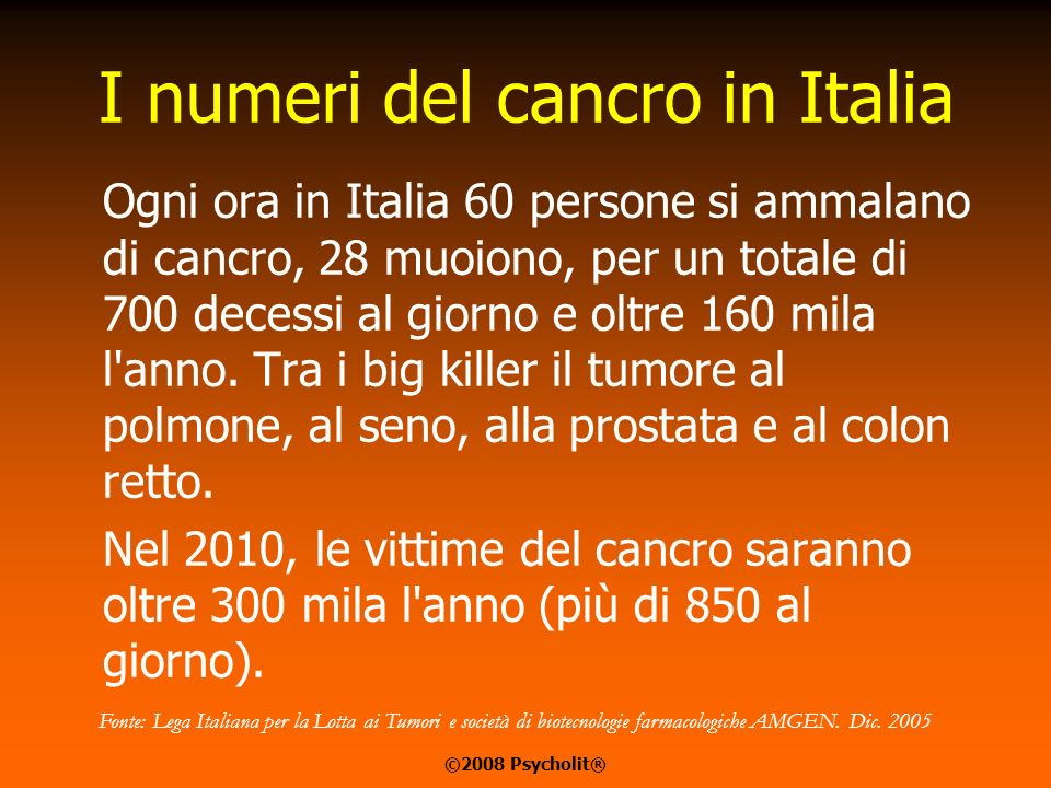 I numeri del cancro in Italia