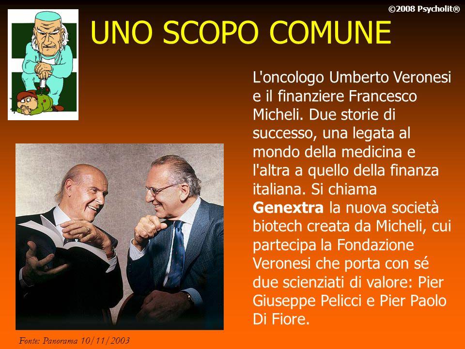 UNO SCOPO COMUNE ©2008 Psycholit®