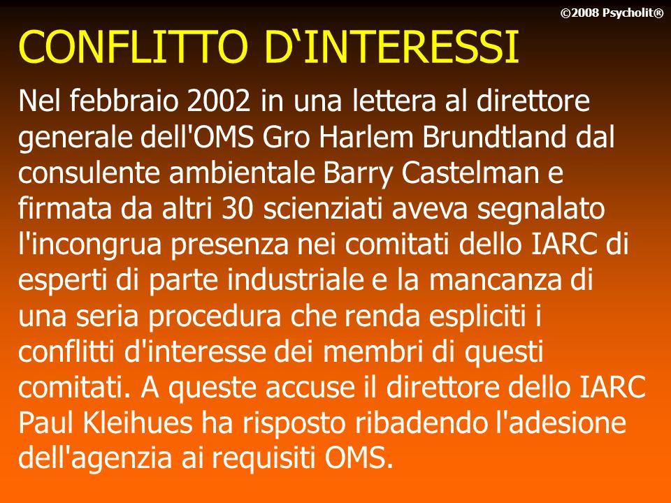 CONFLITTO D'INTERESSI
