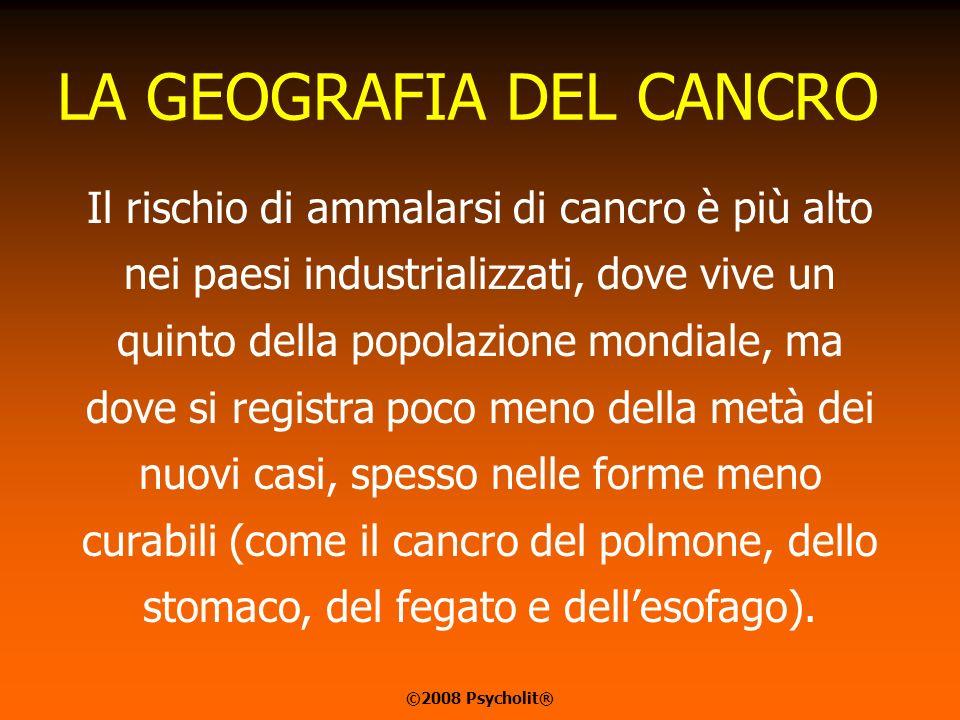 LA GEOGRAFIA DEL CANCRO