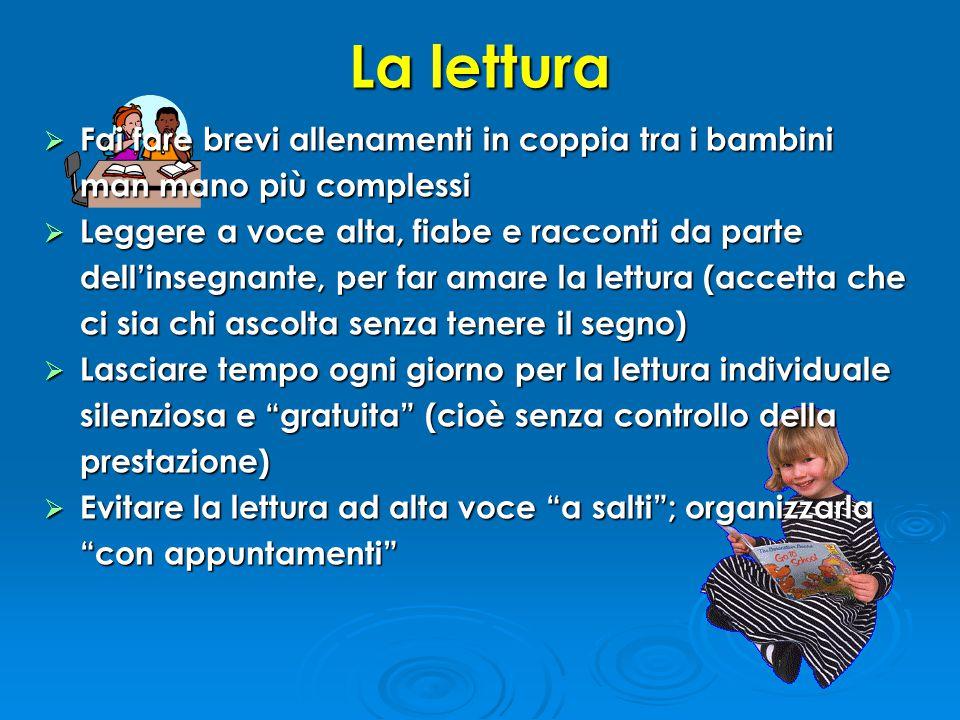 La lettura Fai fare brevi allenamenti in coppia tra i bambini man mano più complessi.
