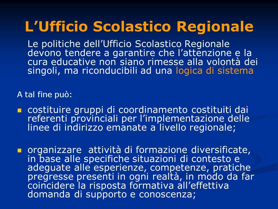 L'Ufficio Scolastico Regionale