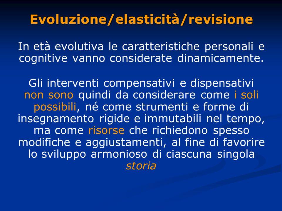 Evoluzione/elasticità/revisione