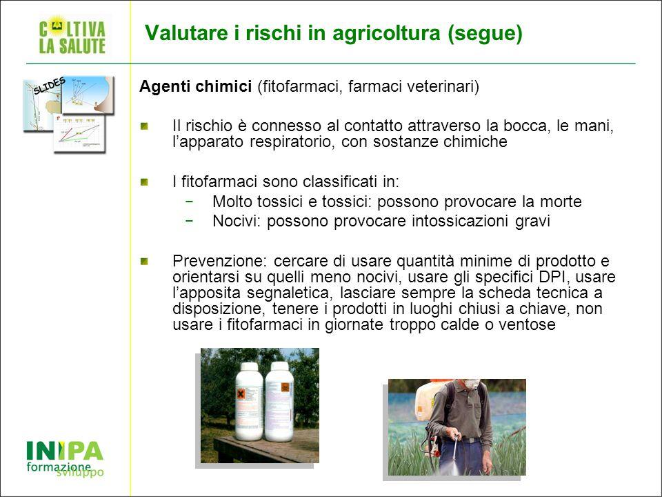 Valutare i rischi in agricoltura (segue)