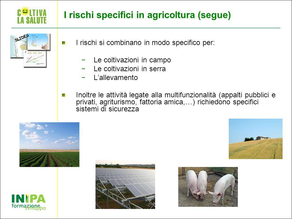 I rischi specifici in agricoltura (segue)