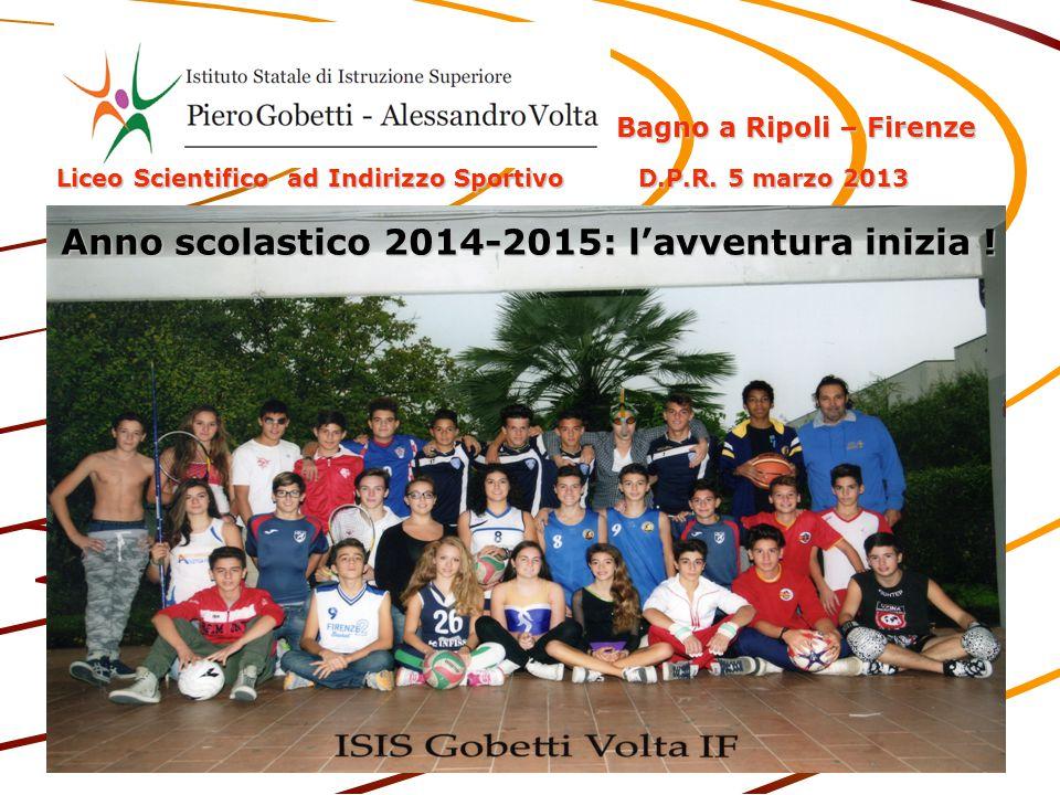 Anno scolastico 2014-2015: l'avventura inizia !