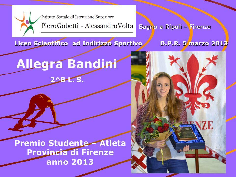Premio Studente – Atleta