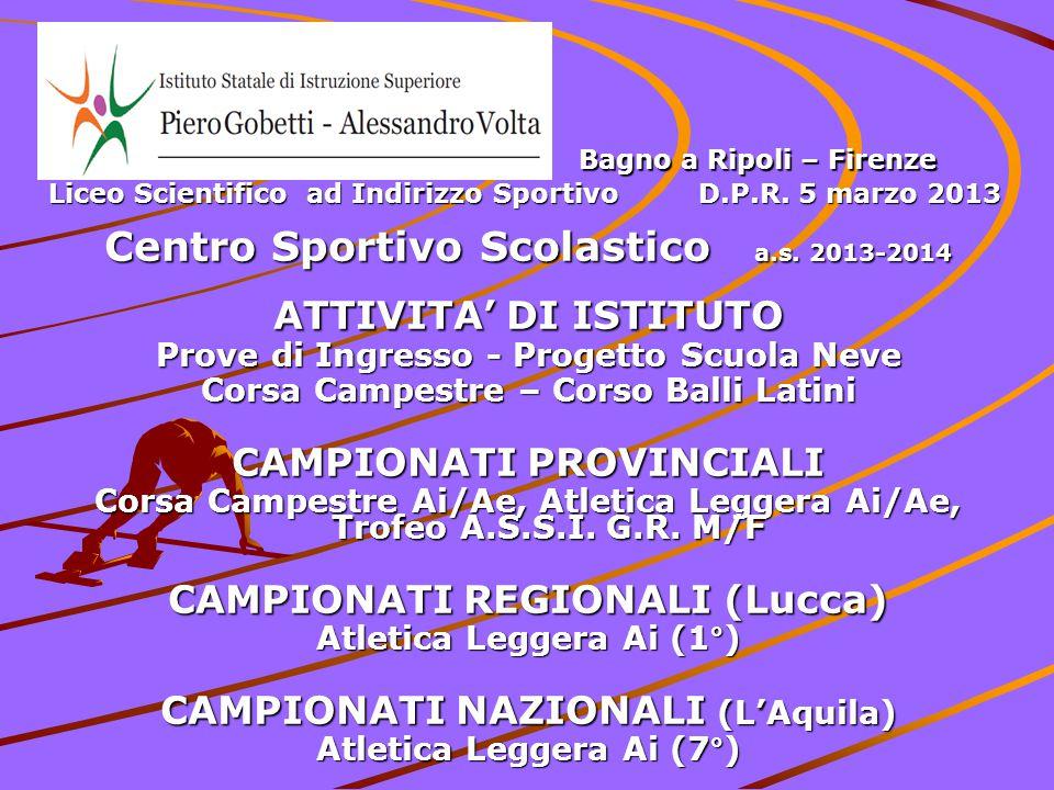 Centro Sportivo Scolastico a.s. 2013-2014