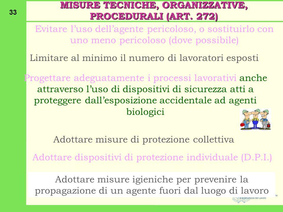 MISURE TECNICHE, ORGANIZZATIVE, PROCEDURALI (ART. 272)