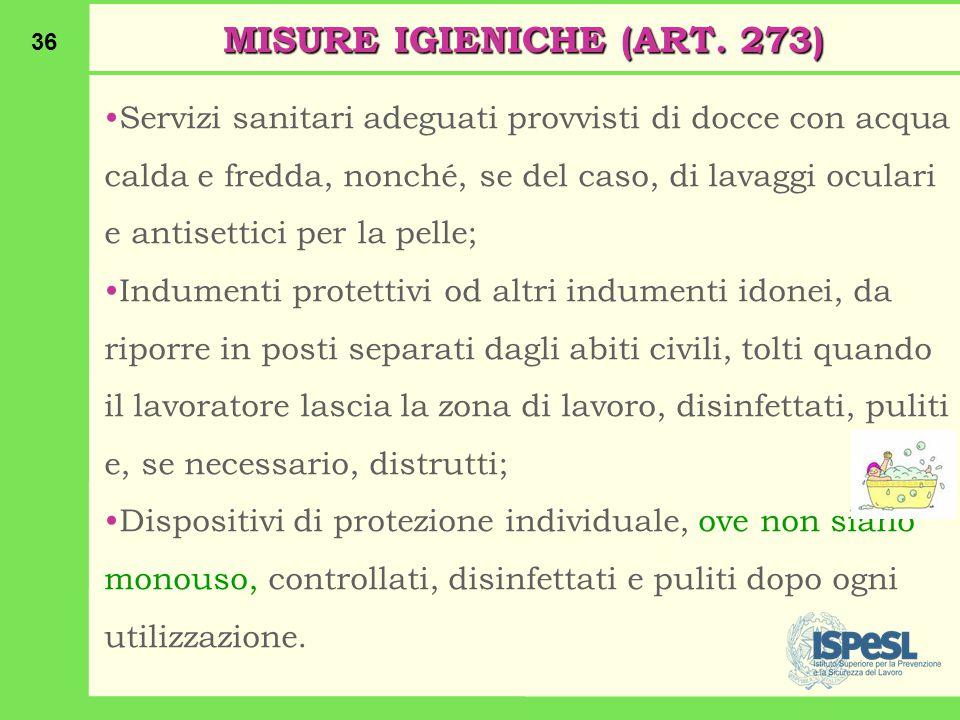 MISURE IGIENICHE (ART. 273)