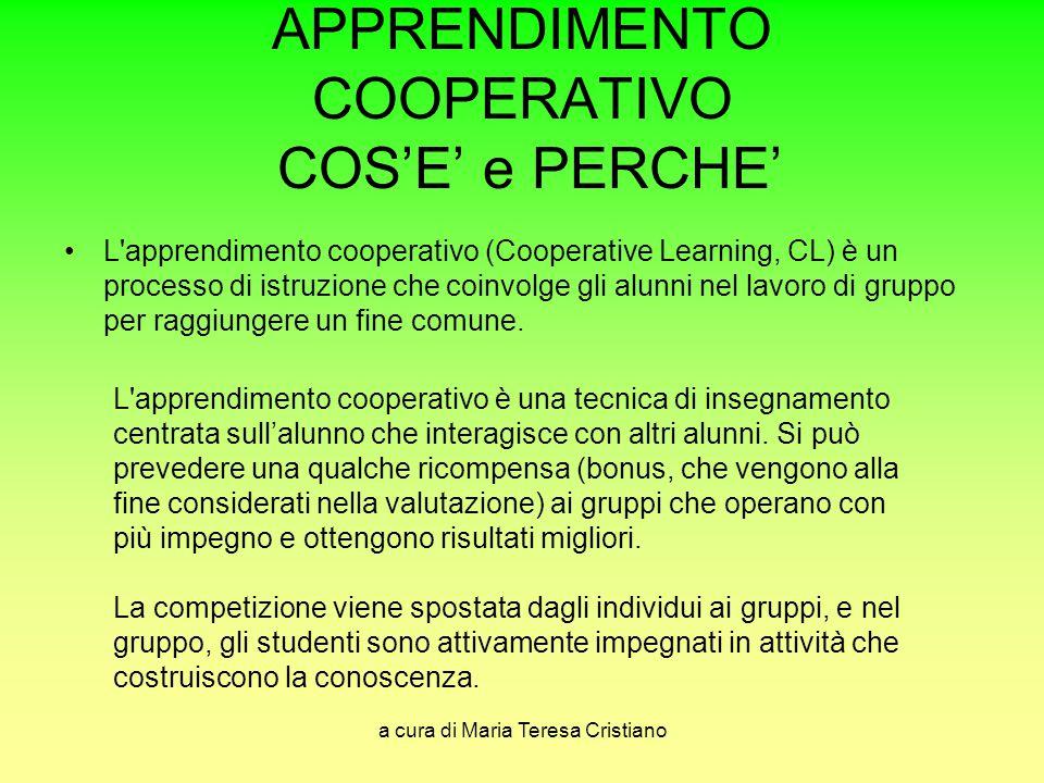 APPRENDIMENTO COOPERATIVO COS'E' e PERCHE'