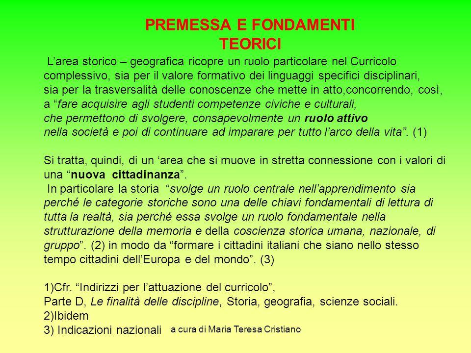 PREMESSA E FONDAMENTI TEORICI