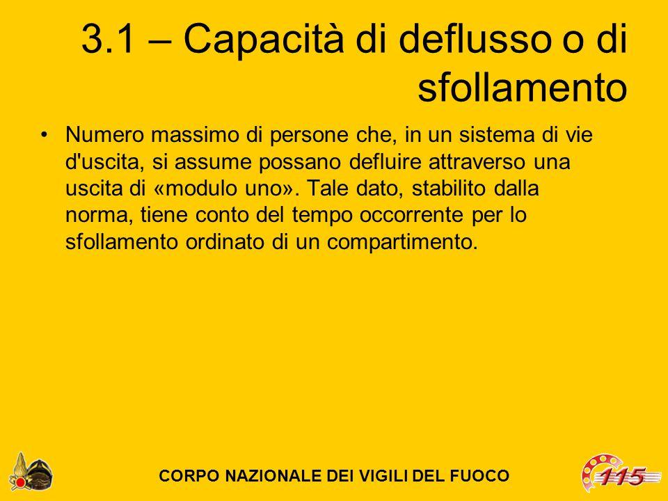 3.1 – Capacità di deflusso o di sfollamento