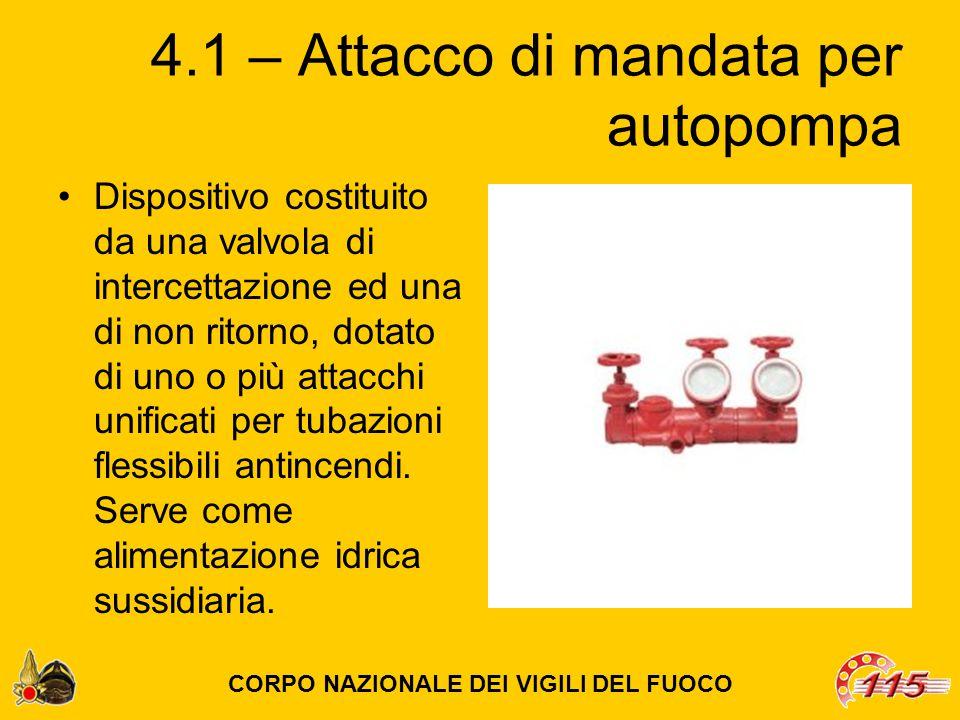 4.1 – Attacco di mandata per autopompa