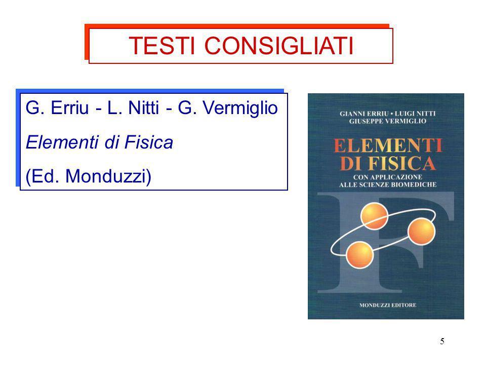 TESTI CONSIGLIATI G. Erriu - L. Nitti - G. Vermiglio